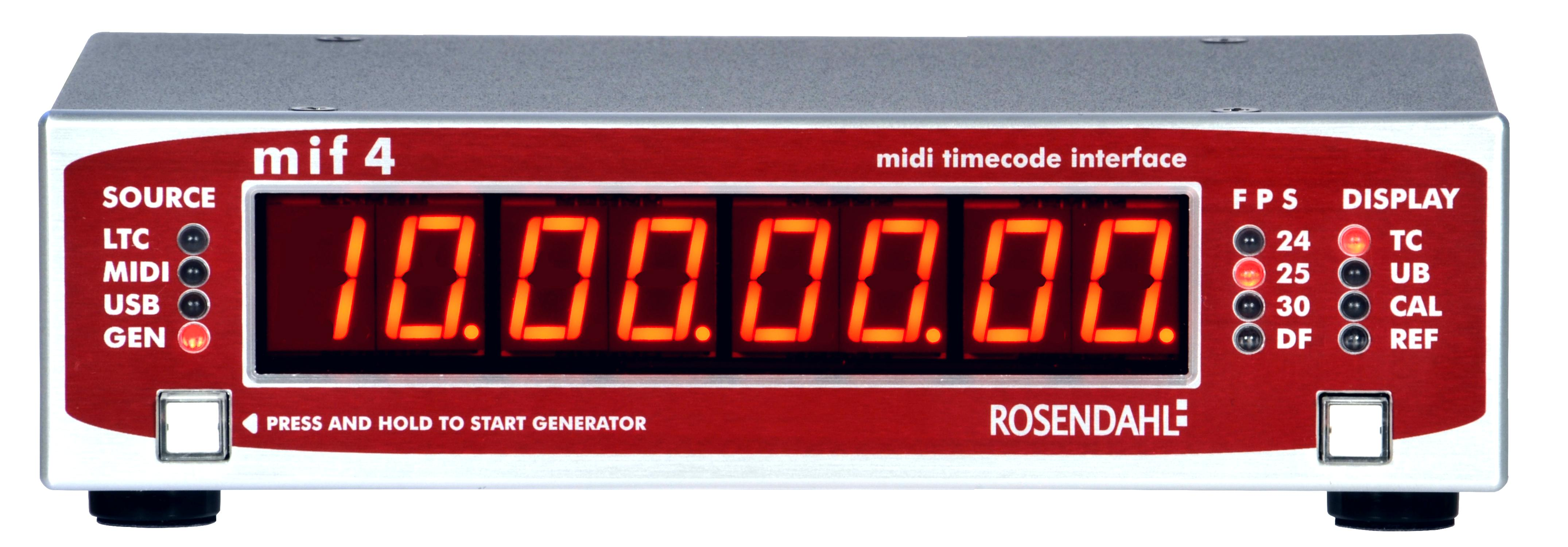 Rosendahl MIF4 - professional MIDI timecode interface (front view)